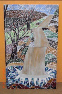 watterfall satined glass window